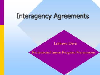 Interagency Agreements