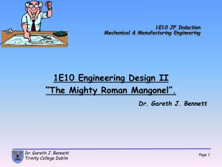 1E10 JF Induction Mechanical & Manufacturing Engineering