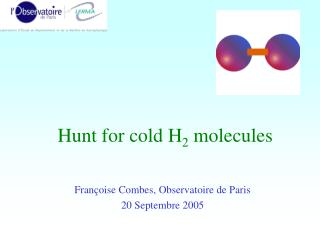Hunt for cold H 2  molecules