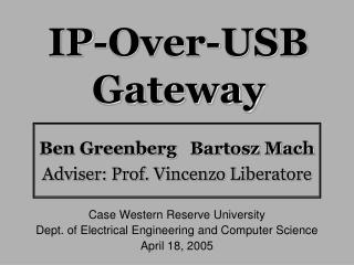 IP-Over-USB Gateway