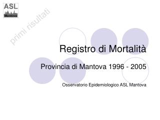 Registro di Mortalità