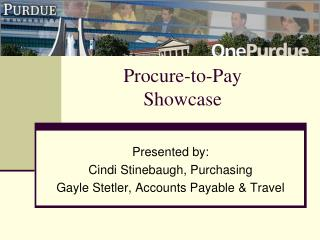 Procure-to-Pay Showcase
