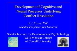 Development of Cognitive and Neural Processes Underlying Conflict Resolution