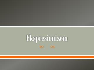 Ekspresionizem