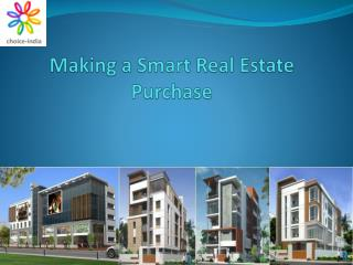 Making a Smart Real Estate Purchase