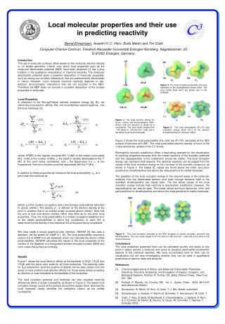Local molecular properties and their use in predicting reactivity
