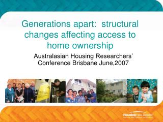 Generations apart:  structural changes affecting access to home ownership