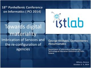 Towards digital materiality Imbrication  of  Services and the re-configuration of agencies