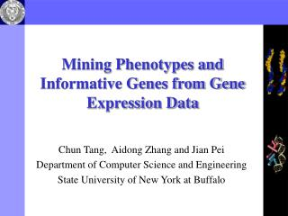 Mining Phenotypes and Informative Genes from Gene Expression Data