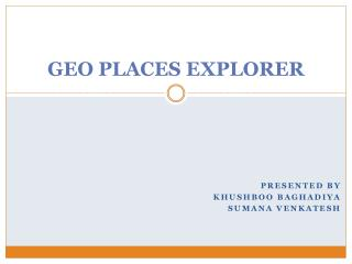 GEO PLACES EXPLORER