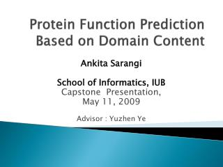 Protein Function Prediction Based on Domain Content