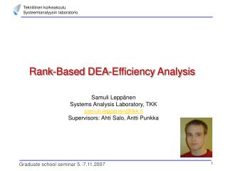 Rank-Based DEA-Efficiency Analysis