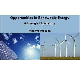 Opportunities in Renewable Energy &Energy Efficiency Madhya Pradesh