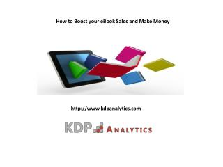 How to Boost your eBook Sales and Make Money