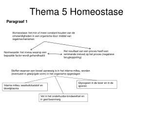 Thema 5 Homeostase
