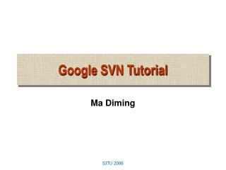 Google SVN Tutorial