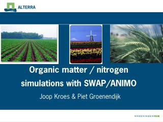 Organic matter / nitrogen simulations with SWAP/ANIMO
