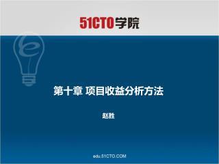 第十章 项目收益分析方法 赵胜