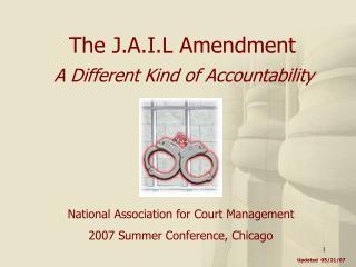 The J.A.I.L Amendment