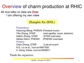 Over view  of charm production at RHIC