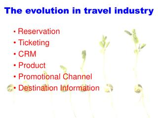 The evolution in travel industry