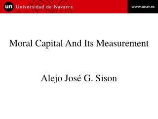 Moral Capital And Its Measurement Alejo José G. Sison
