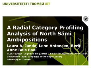 A Radial Category Profiling Analysis of North S á mi Ambipositions