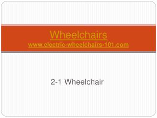 2-1 Wheelchair