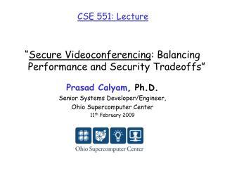 CSE 551: Lecture