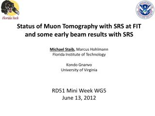 Muon Tomography for Homeland Security