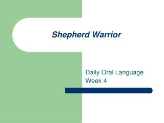 Shepherd Warrior