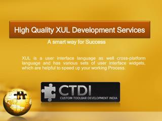 High Quality XUL Development Services