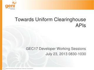 Towards Uniform Clearinghouse APIs