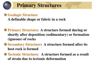 Primary Structures