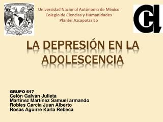 LA DEPRESIÓN EN LA ADOLESCENCIA