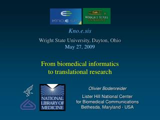 From biomedical informatics to translational research