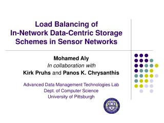 Load Balancing of In-Network Data-Centric Storage Schemes in Sensor Networks