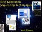 Next Generation Sequencing Technologies
