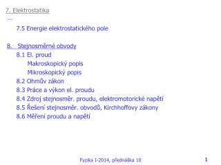 7. Elektrostatika …