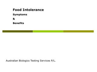 Food Intolerance Symptoms   Benefits