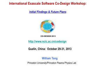 International Exascale Software Co-Design Workshop: Initial Findings & Future Plans