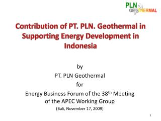 Contribution of PT. PLN. Geothermal in Supporting Energy Development in Indonesia