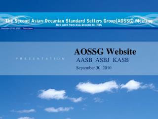 AOSSG Website