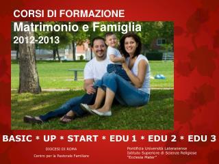 CORSI DI FORMAZIONE Matrimonio e Famiglia 2012-2013