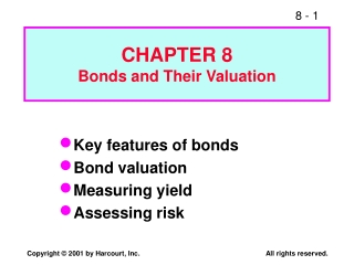 CHAPTER 8 Bonds and Their Valuation