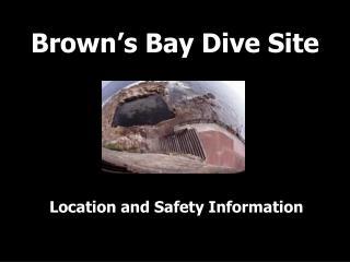 Brown's Bay Dive Site