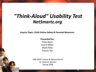 """Think-Aloud"" Usability Test"