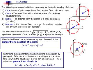 The following are several definitions necessary for the understanding of circles.