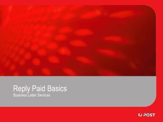 Reply Paid Basics