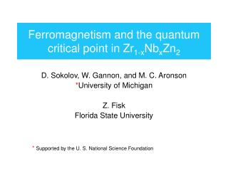 Ferromagnetism and the quantum critical point in Zr 1-x Nb x Zn 2